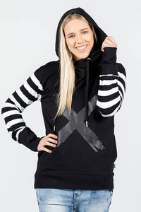 Hooded Striped Sweater