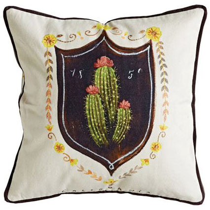 Boho Southwest California Cactus Succulent Pillow