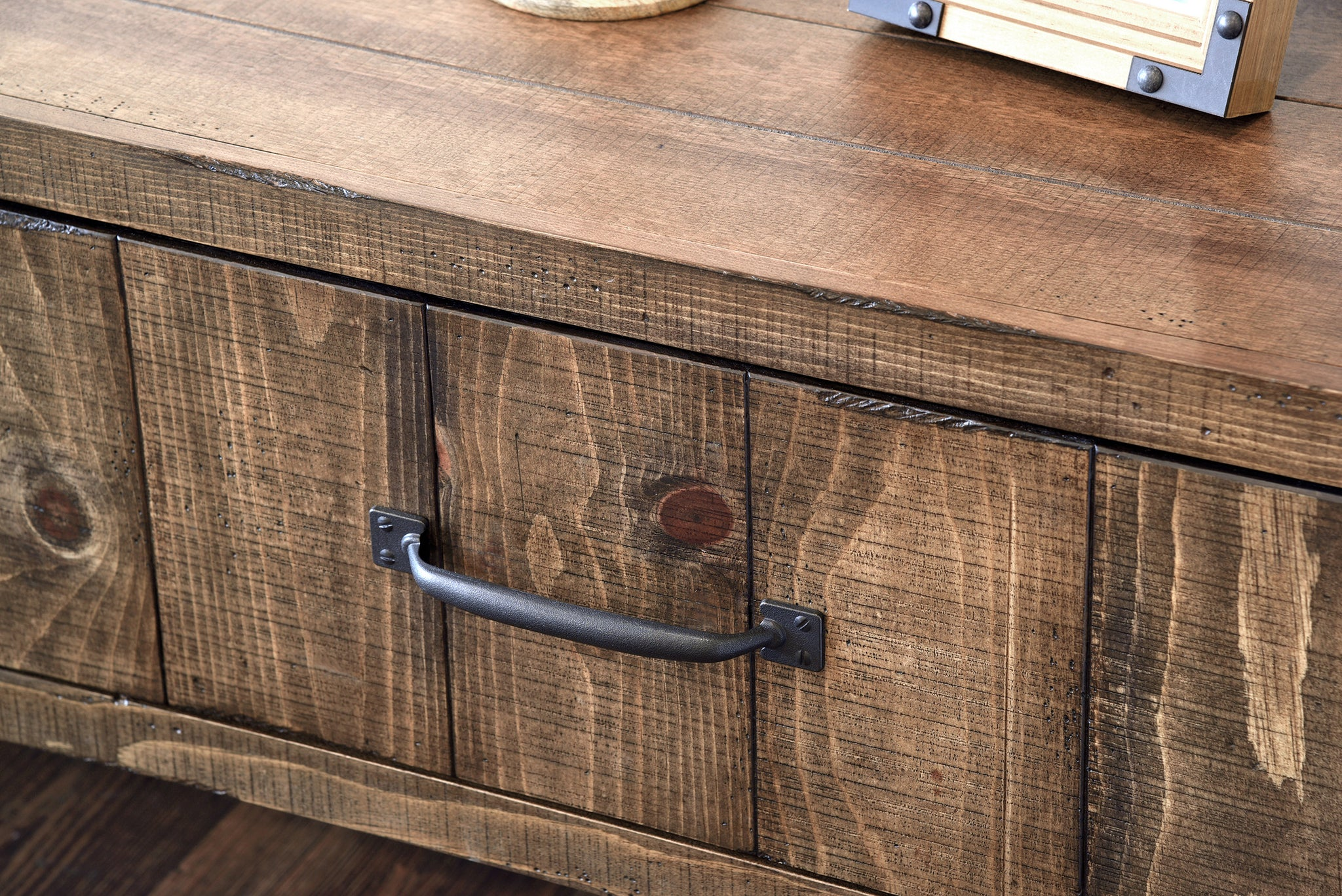 Wall Mounted Nightstand - Farmhouse Floating Drawer - Spice