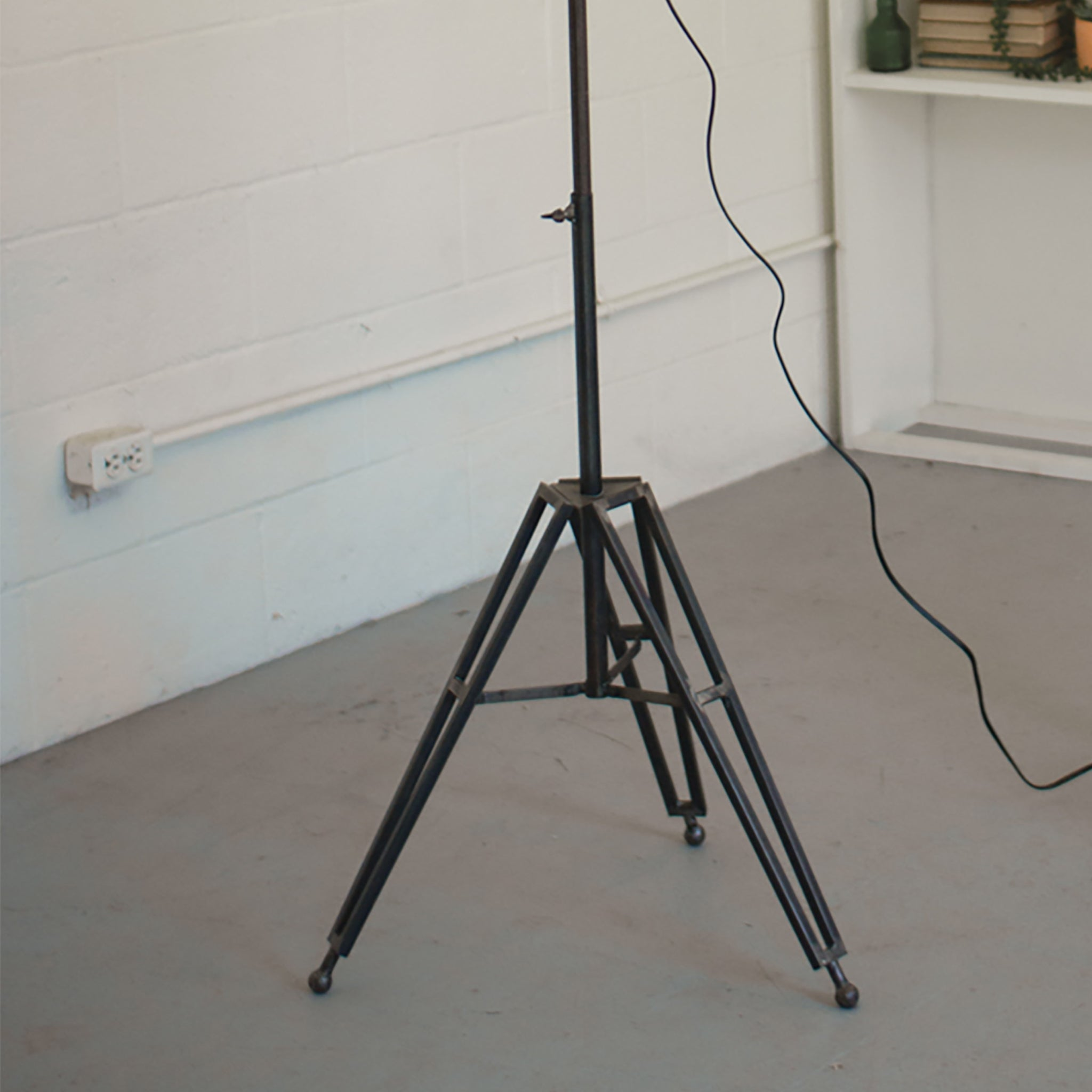 Industrial Modern Floor Lamp With Glass Shade
