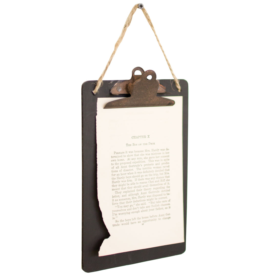 Industrial Modern Rustic Black Clip Board Office Wall Art - Set of 6