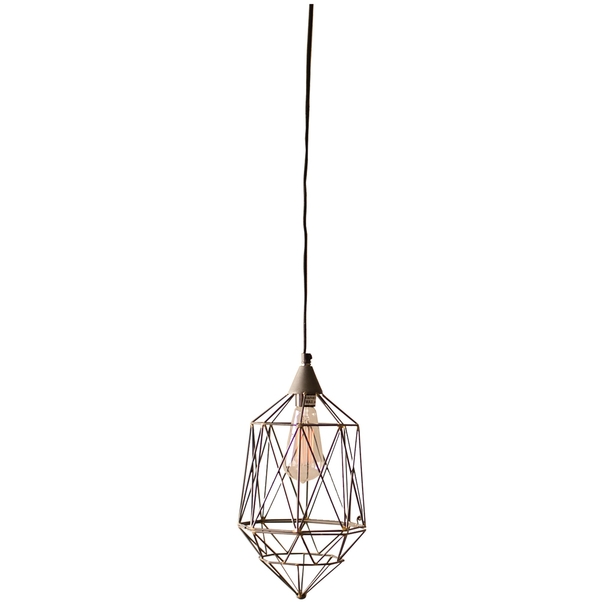 Small Geometric Wire Pendant Lamp