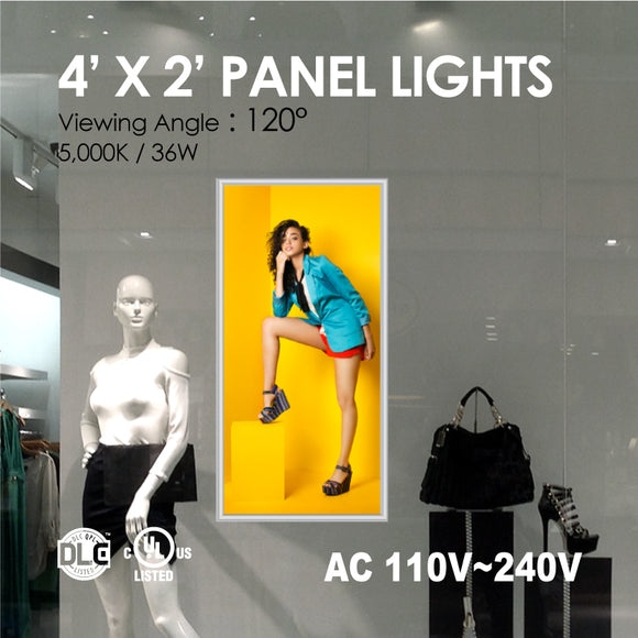 LED PANEL LIGHT 4 x 2FT 50Watt 4000K/5000K w/ Print