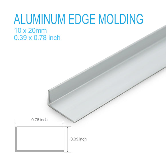 ALUMINUM L-MOLDING-10mm X 20mm X 5FT