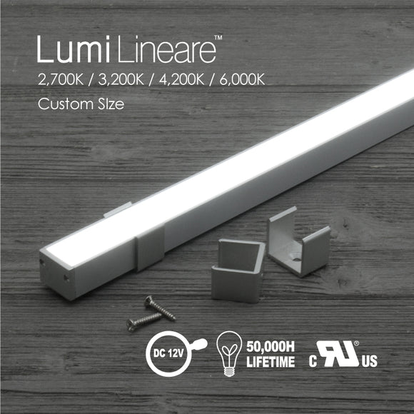 Lumi Lineare LED Light Bar 2,700K / 3,200K / 4,200K / 6,000K-5.85Watt/Ft