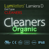 "LED Sign Art Dot Type ""Cleaners"""