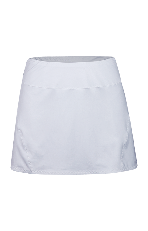 "Jaclyn Pleated Skort - White - 13.5"" Length"