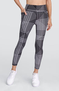 Ivory Leggings - Flow Print