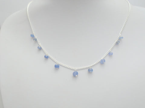 Floating Tanzanite Necklace