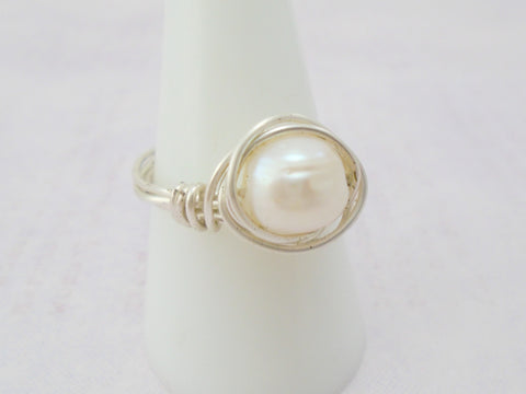 Pearl Wire Ring
