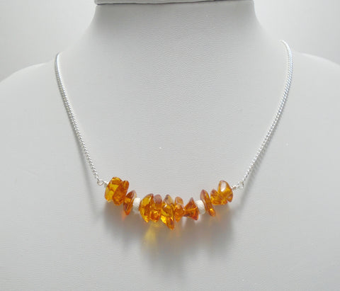 amber bar necklace