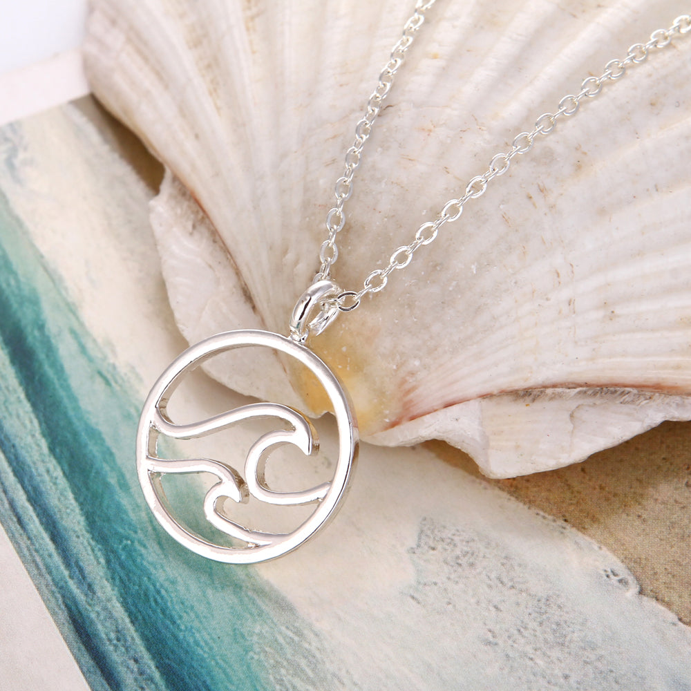 Handmade Double Wave Necklace