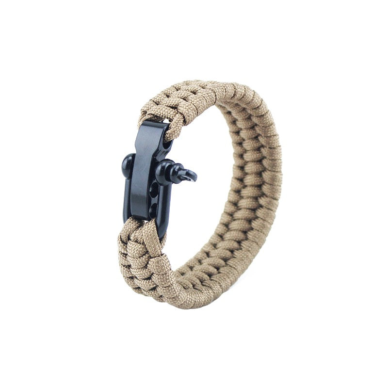 Paracord Bracelet with Metal Clasp