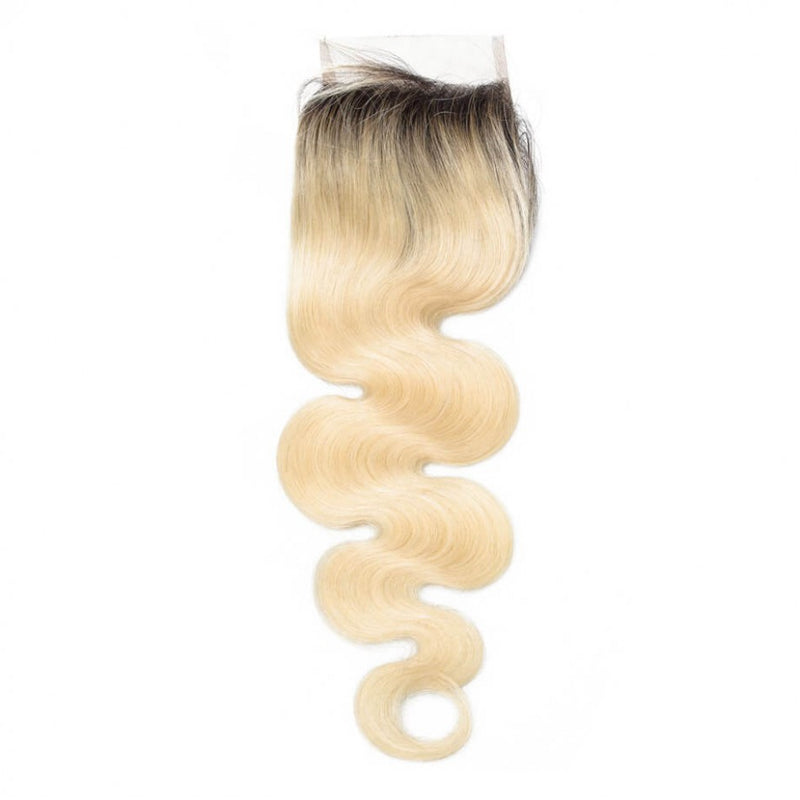 CLOSURES 4X4 1B/613 BLONDE BODY WAVE