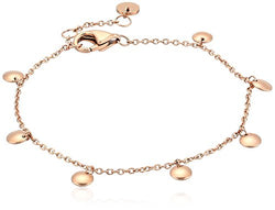 Skagen Women's Anette Rose Gold-Tone Charm Bangle Bracelet, 0