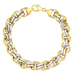 Double-Link Bracelet in 14K Gold-Bonded Sterling Silver, 7.5