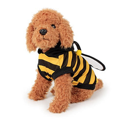 FanQube Bumble Bee Dog Clothes Pet Costume for Puppy and Cat (S)