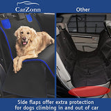 CarZonn Dog Seat Cover – Pet Seat Cover - Dog Car Seat Cover – Waterproof, Scratchproof Seat Cover for Spotless Car – Premium Seat Hammock for Small and Large Dogs – Cars, Trucks SUVs