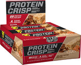 BSN Protein Crisp Bar by Syntha-6, Low Sugar Meal Replacement Whey Protein Bar, 20g of Protein, Salted Toffee Pretzel, 12 Count (Packaging may vary)