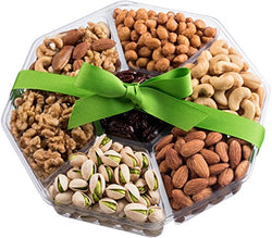 Nut Cravings Holiday Gourmet Nuts Gift Baskets | Extra-Large 7-Sectional Delicious Variety Mixed Nuts Prime Gift | Healthy Fresh Gift Idea For Christmas, Thanksgiving, Mothers & Fathers Day