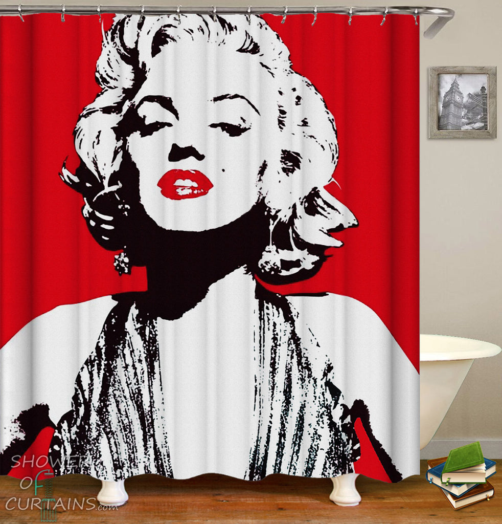 Marilyn Monroe Shower Curtain - Marilyn Monroe bathroom