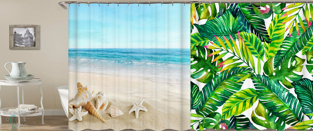 Ocean And Tropical Shower Curtains