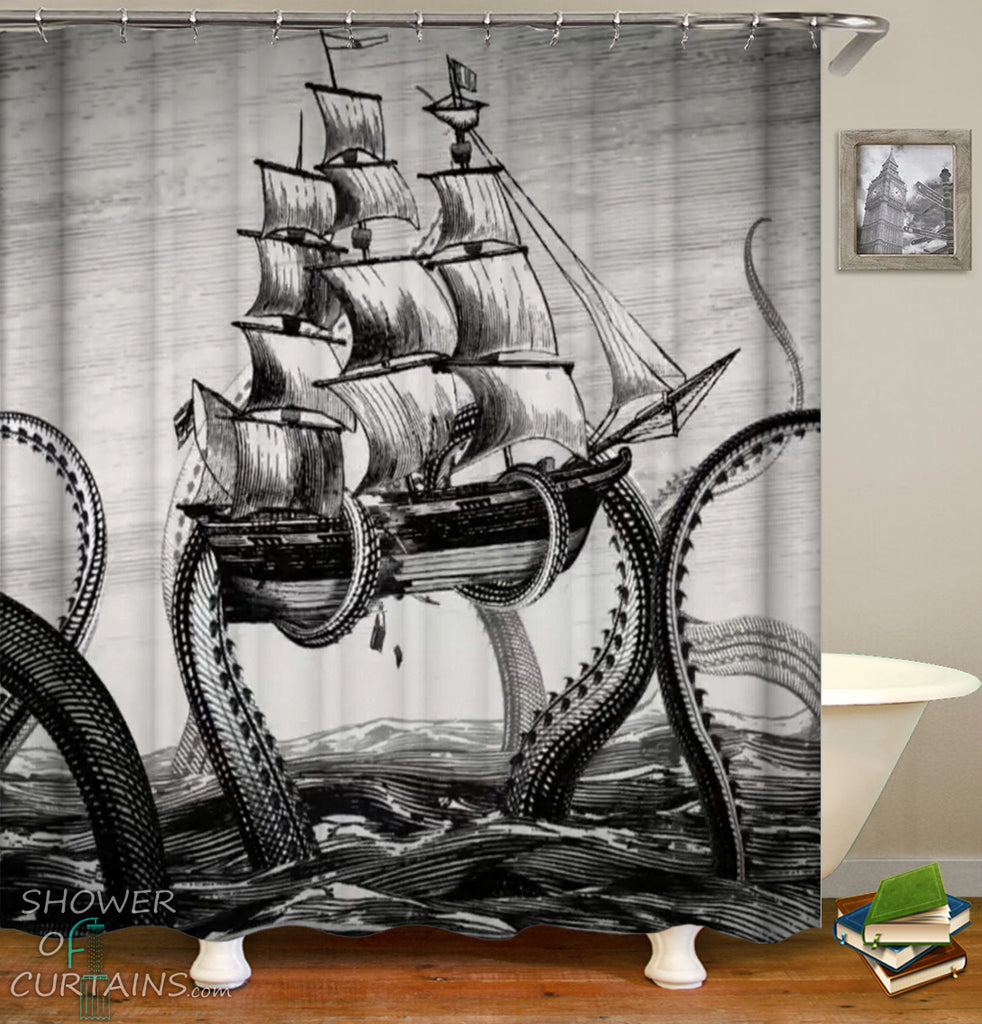 Octopus Kraken Shower Curtain