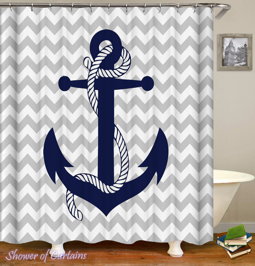 Anchor Shower Curtain