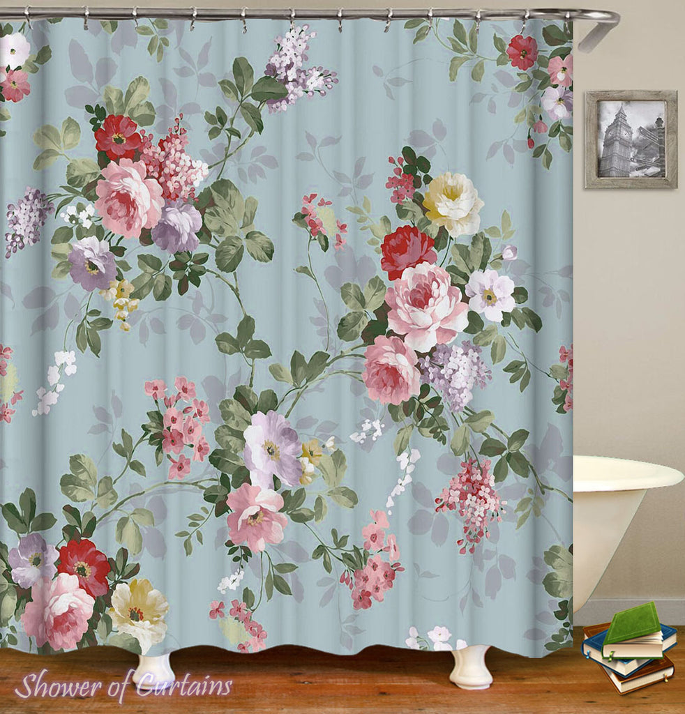 Shower Curtain of Classic Floristry theme