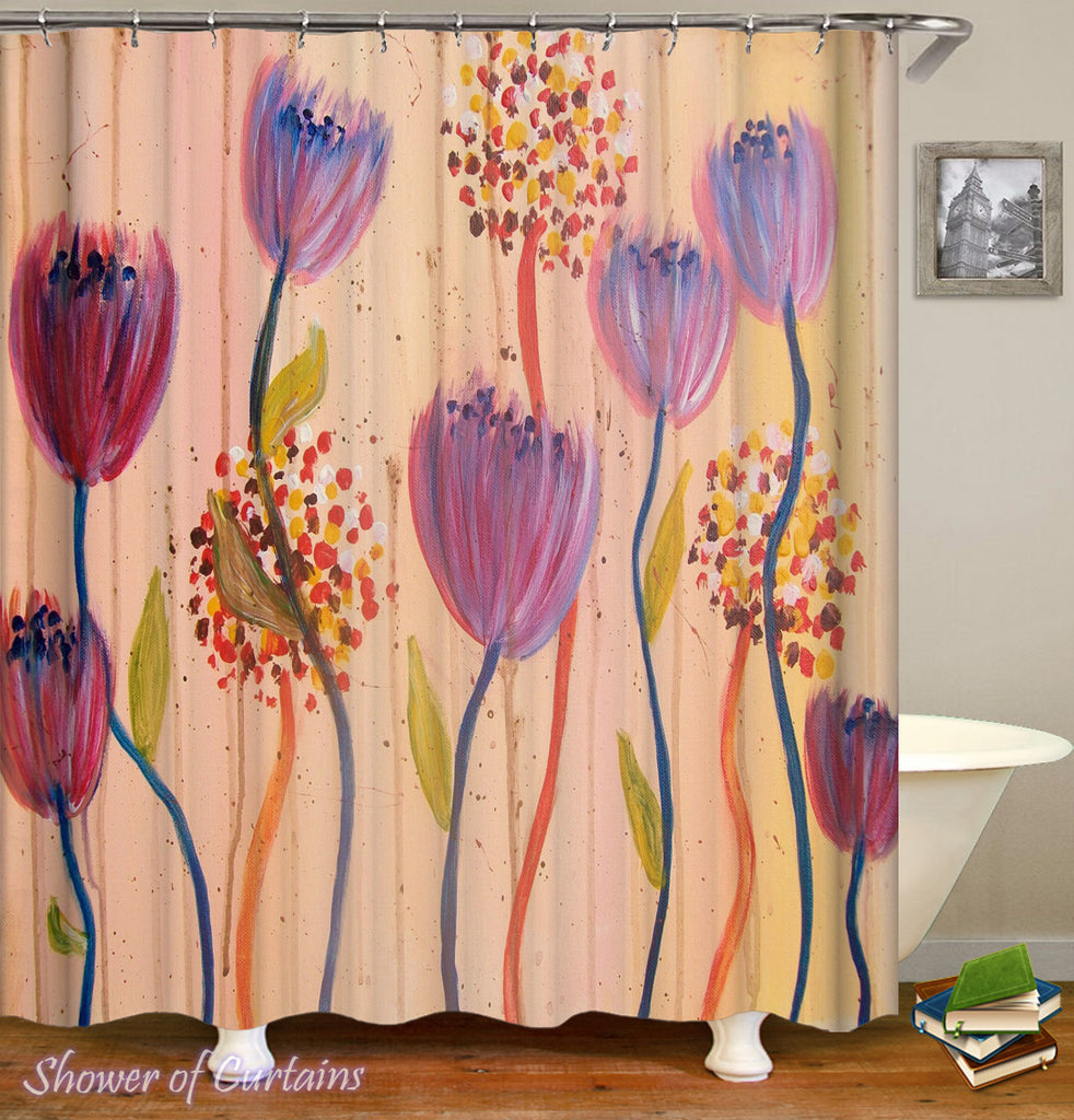 Flowers Art Shower Curtain