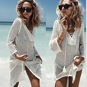 Bali Vibes Crochet Beach Dress
