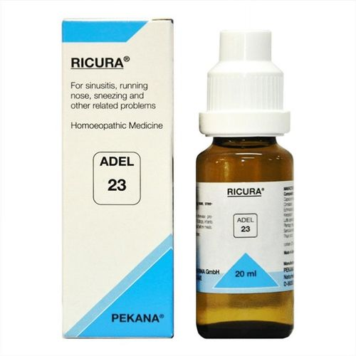 Adel 23 Ricura drops for Sinusitis, Running Nose, Sneezing (Sinus infection)