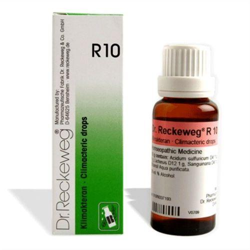 Dr.Reckeweg R10 Climacteric drops for Irregular menstruations, Leucorrhoea, Flushes of heat