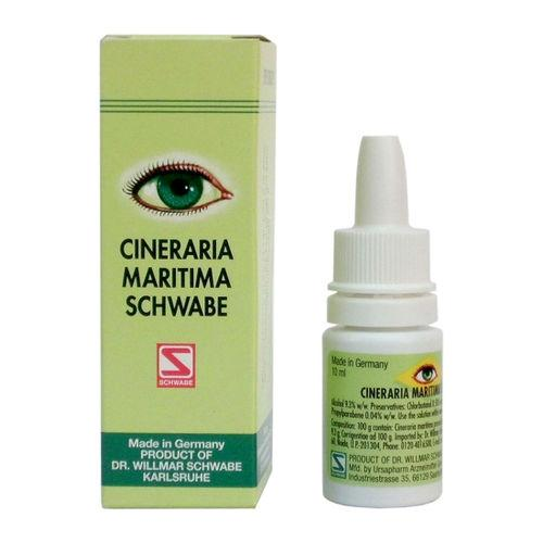 Schwabe German Cineraria Maritima Eye Drops for Cataract, Corneal Opacities with Alcohol