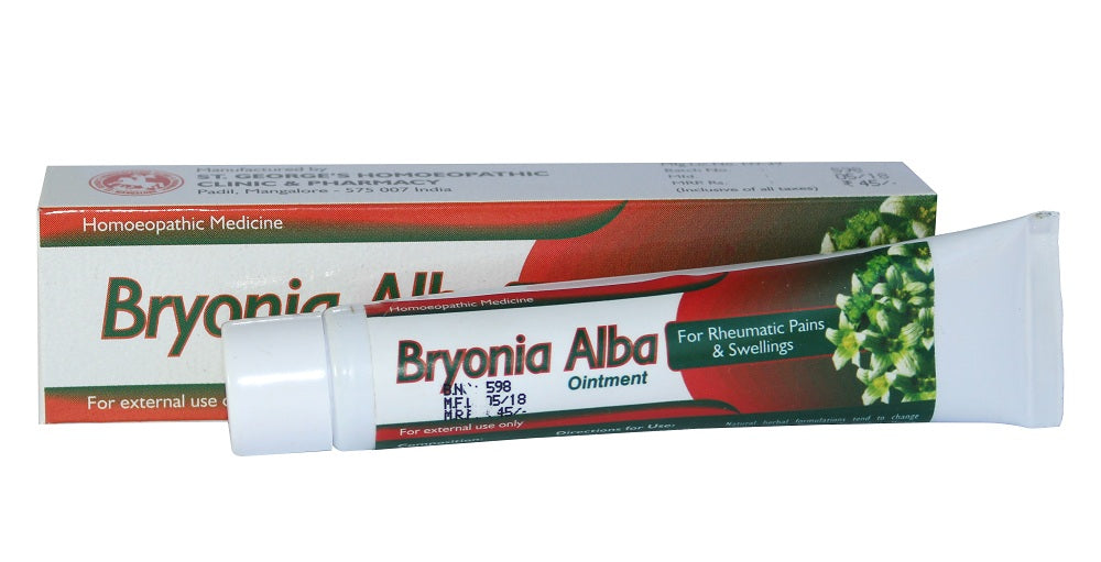 St George Bryonia Alb Ointment for rheumatic pains, swelling