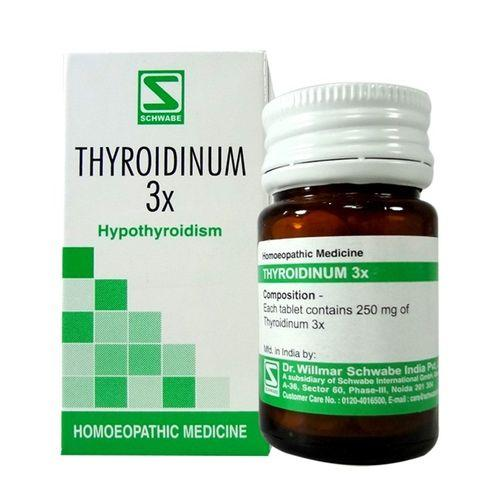 Schwabe Thyroidinum 3X tablets for Hypothyroidism (Thyroid deficiency)