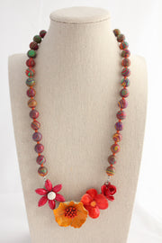 Autumn Brights Statement Necklace - bel monili, Pittsburgh PA, country living fair, vintage market days