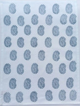 indigo buta tea towel