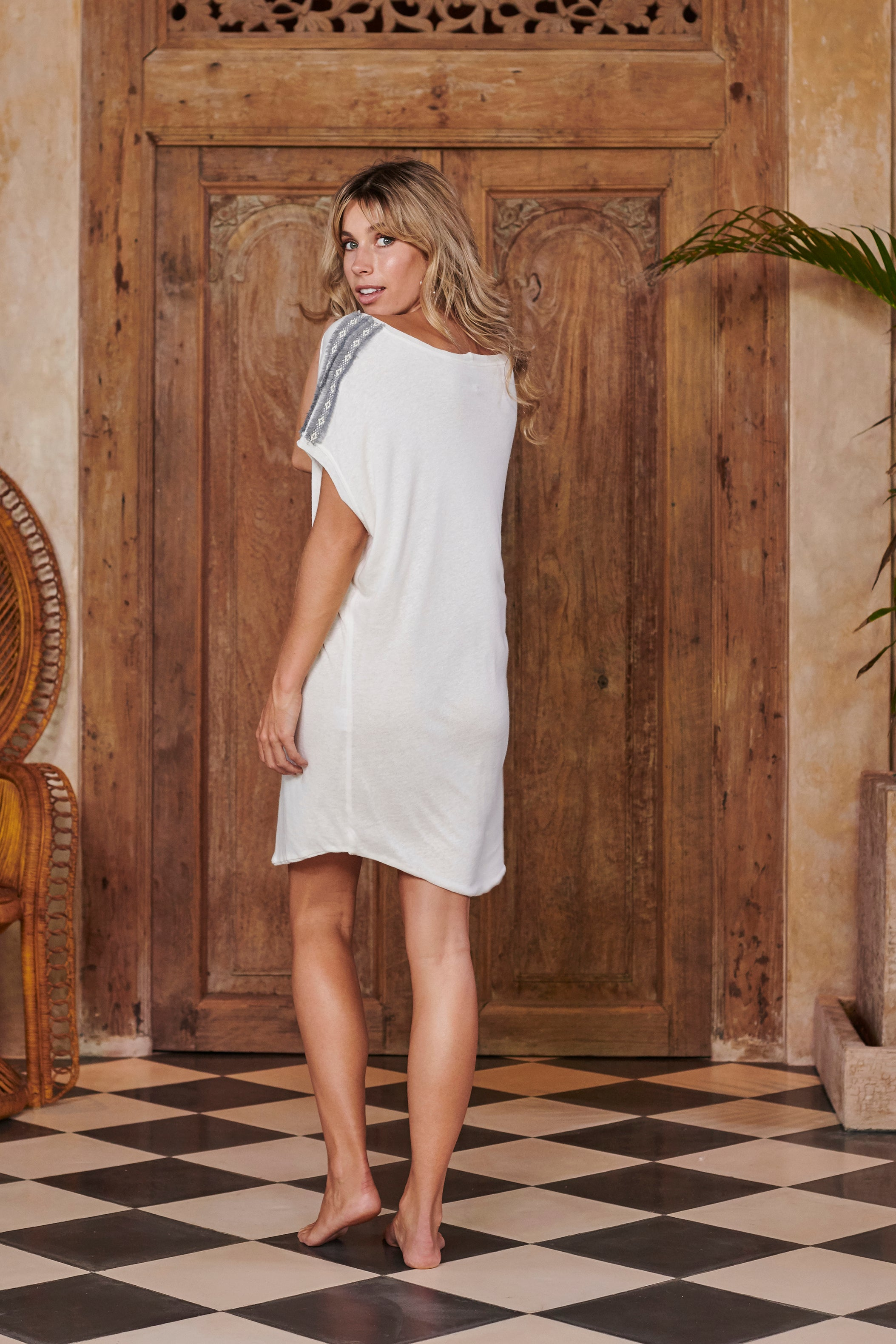 Jersey Knit White Cover Up