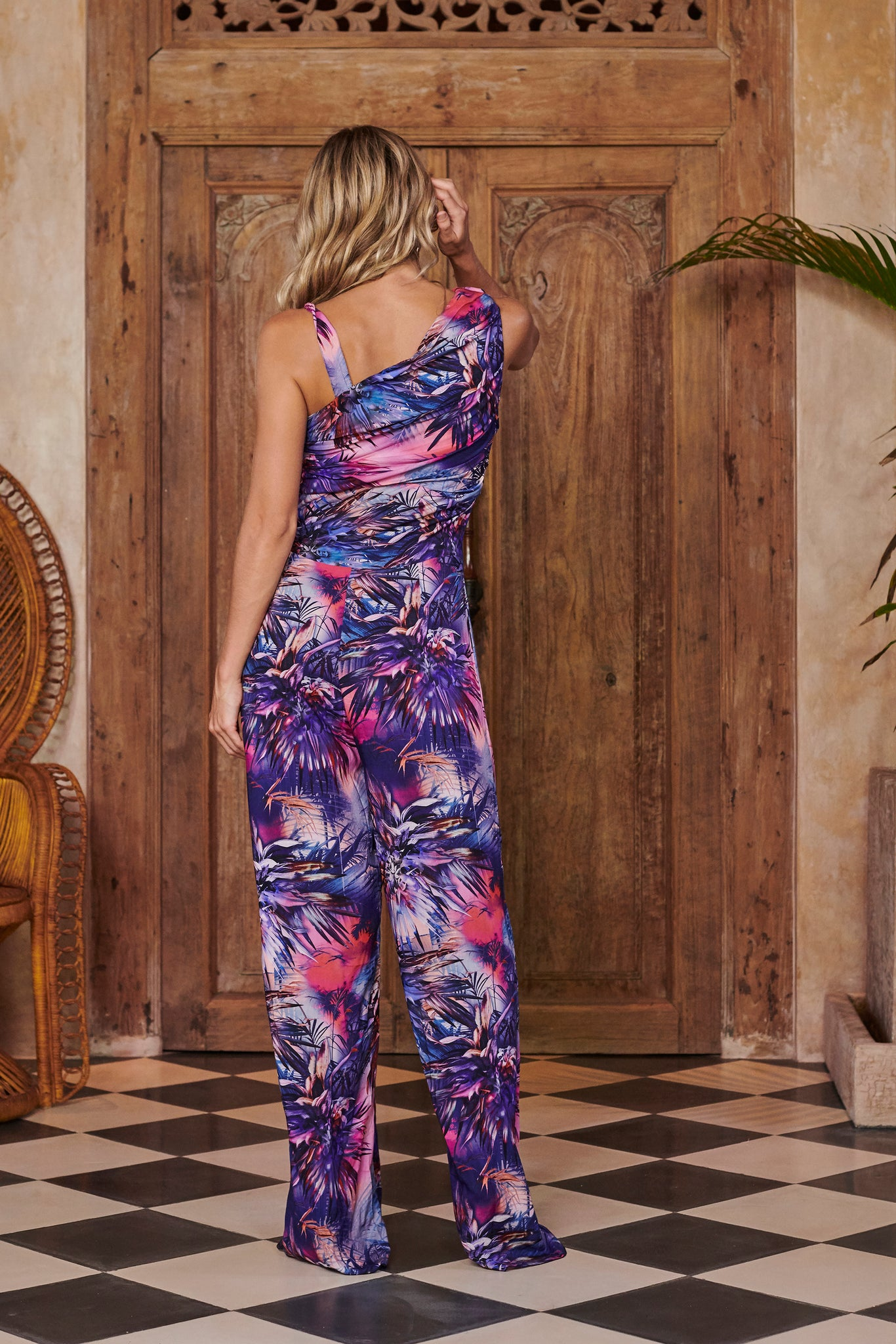Nymph Blue Printed Jumpsuit