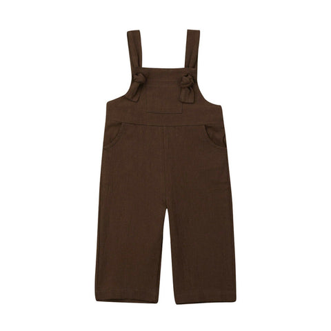 Brooklyn Knot Overalls - Chocolate