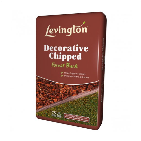 Levington decorative chipped bark 75 litres gardening decoration horley