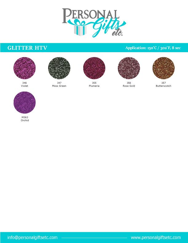 HTV-Heat Transfer Vinyl-Glitter HTV 31-Sheet Bundle