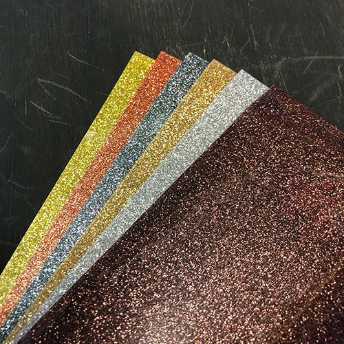 HTV-Heat Transfer Vinyl-Precious Metals Glitter 6-Sheet Bundle