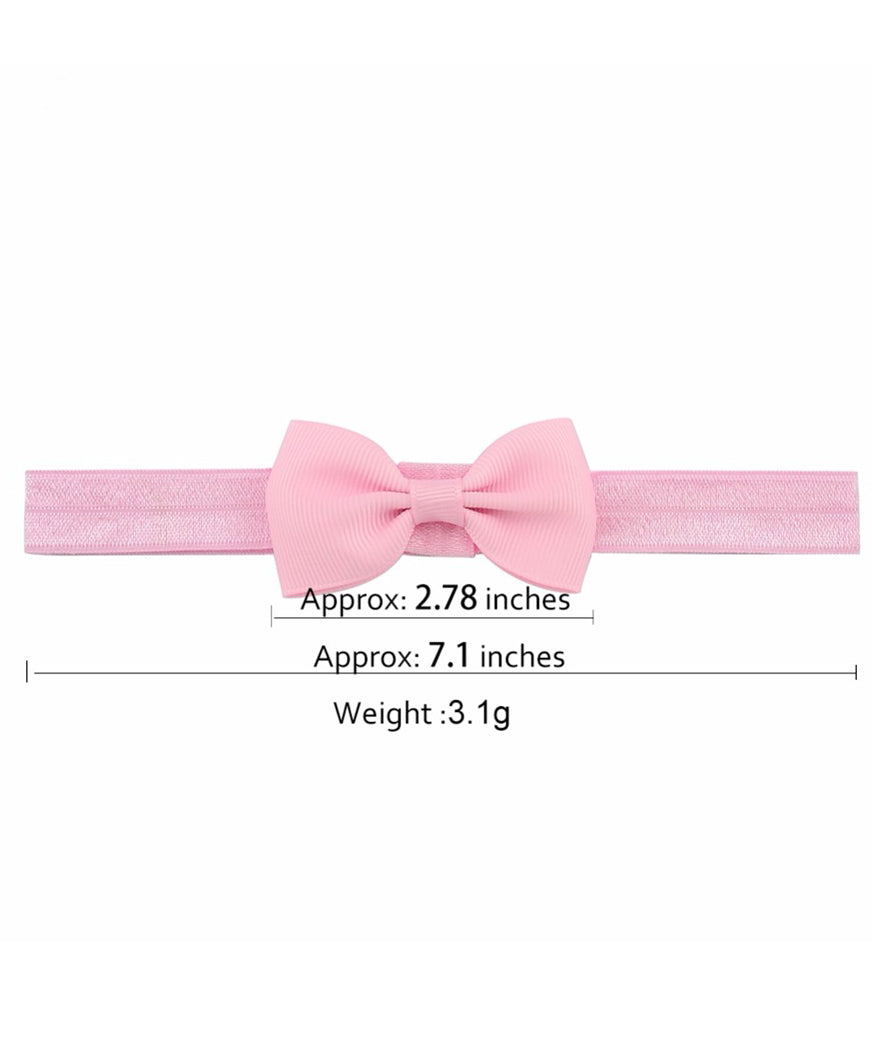"2""Mini Ribbon Bow Tie Headband-1644"