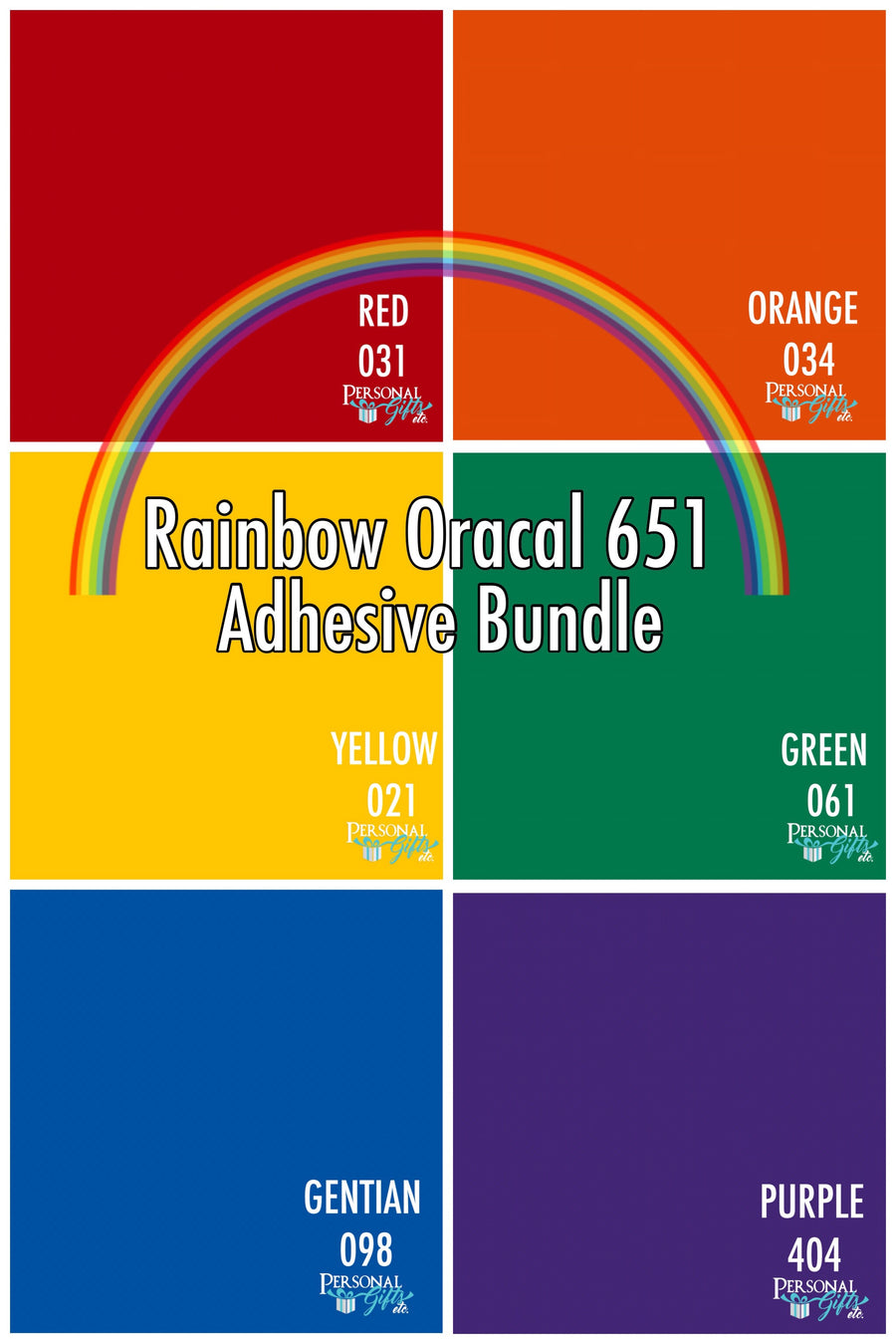 Oracal 651 Adhesive Rainbow Bundle