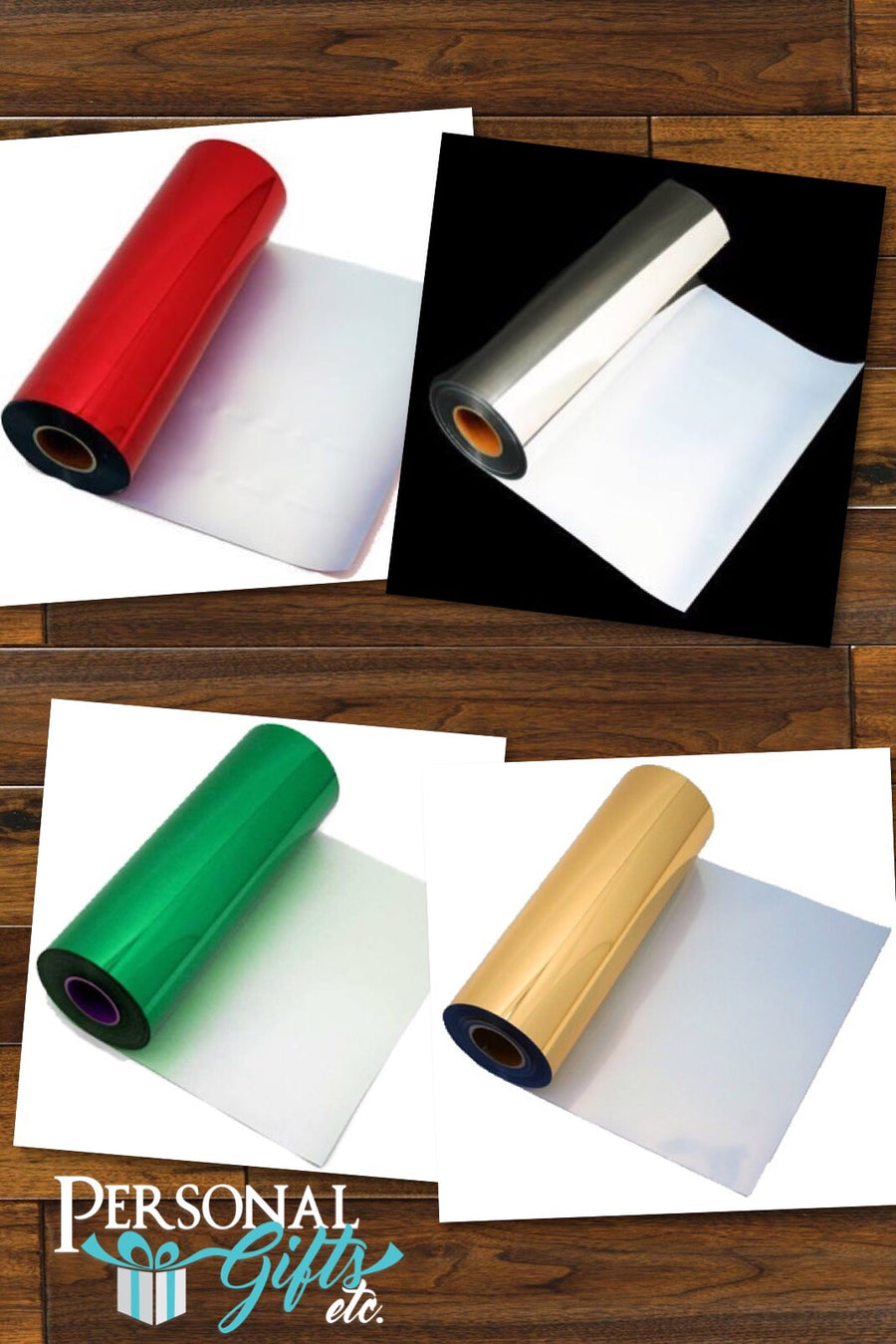 HTV Elastic Foil Christmas Bundle -4 Sheets