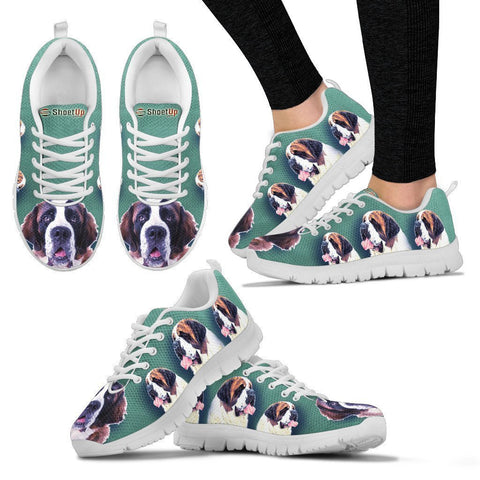 Amazing St. Bernard Dog-Women's Running Shoes-Free Shipping-Paww-Printz-Merchandise