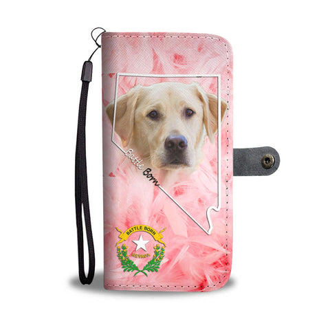 Cute Labrador Retriever Print Wallet Case- Free Shipping-NV State