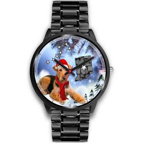 Airedale Terrier Indiana Christmas Special Wrist Watch-Free Shipping